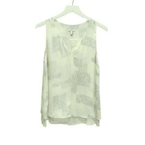 Joie Silk Lace Printed Blouse